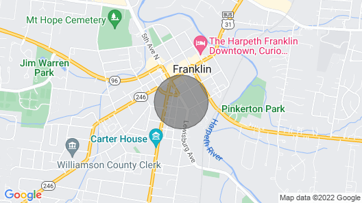All the fun of Downtown Franklin & no Need to Drive! Map