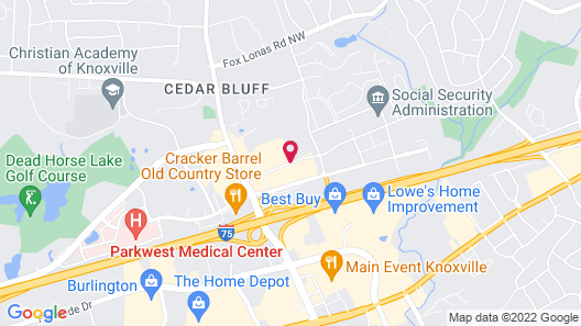 Country Inn & Suites by Radisson, Knoxville at Cedar Bluff, TN Map