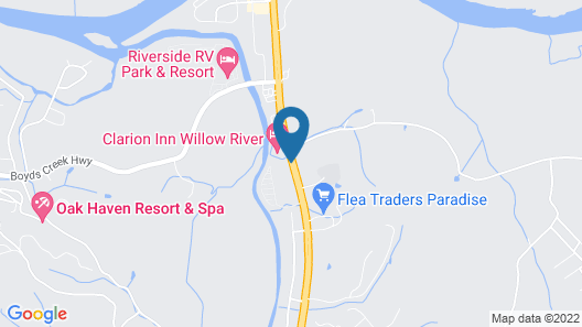 Clarion Inn Willow River Map