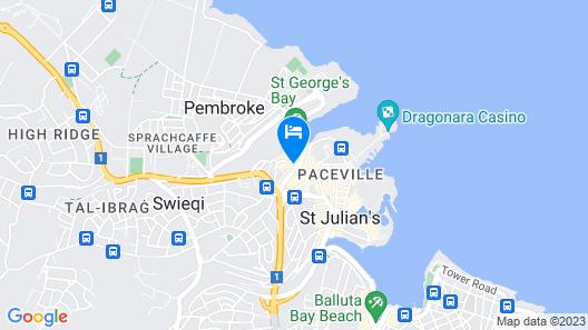 Hyatt Regency Malta Map