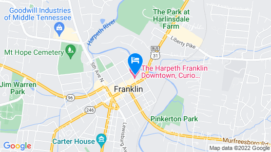The Harpeth Franklin Downtown, Curio Collection by Hilton Map
