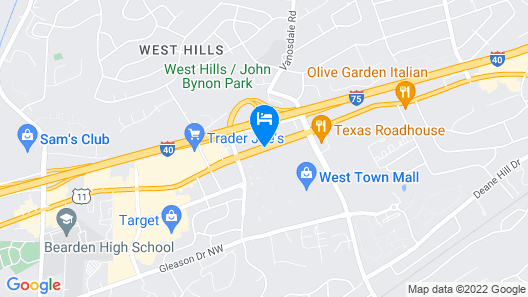 Comfort Inn & Suites Knoxville West Map
