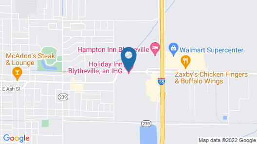 Holiday Inn Blytheville, an IHG Hotel Map