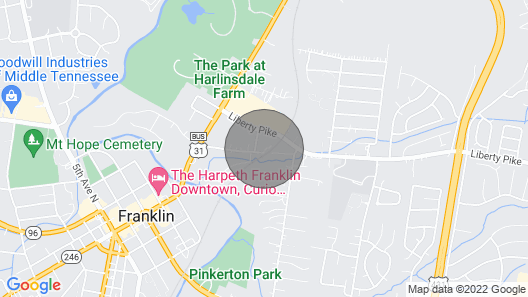 New!!! Franklin Farmhouse - Walk to the Square Map