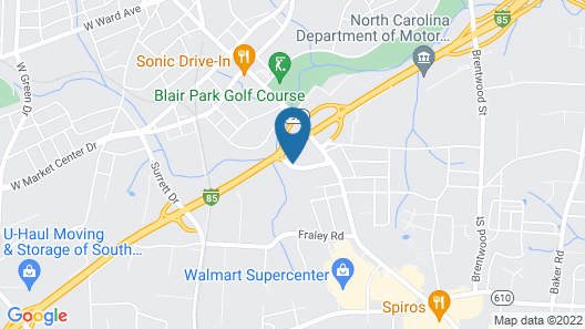 Motel 6 High Point, NC Map