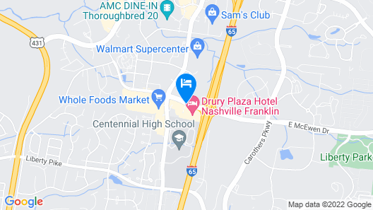 Drury Plaza Hotel Nashville Franklin Map