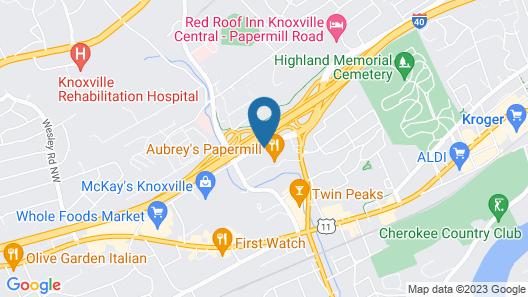 Hilton Garden Inn Knoxville Papermill Drive Map