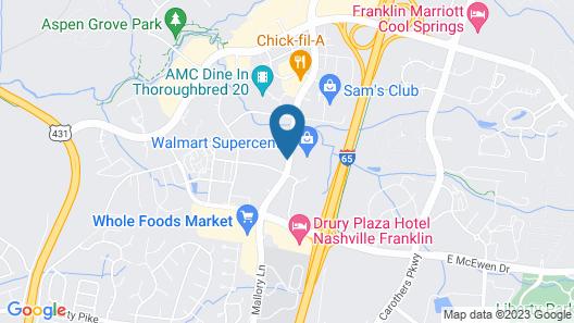 Hyatt House Nashville/Franklin/Cool Springs Map
