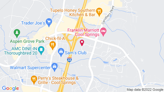 Embassy Suites Nashville South/Cool Springs Map
