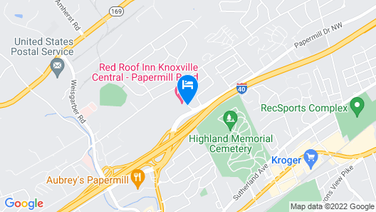 Red Roof Inn Knoxville Central - Papermill Road Map