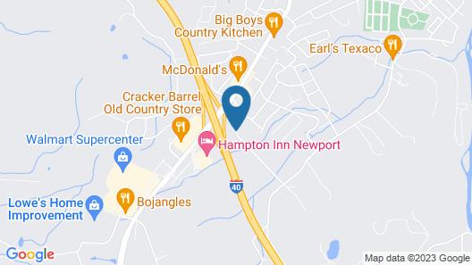 Motel 6 Newport, TN Map