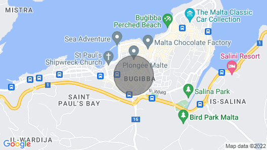 3 Bedroom Apartment in St Paul's Bay Map