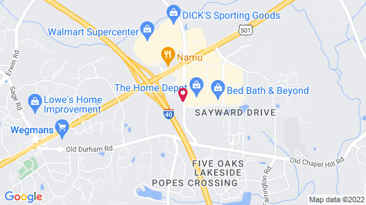 Staybridge Suites Durham/Chapel Hill, an IHG Hotel Map
