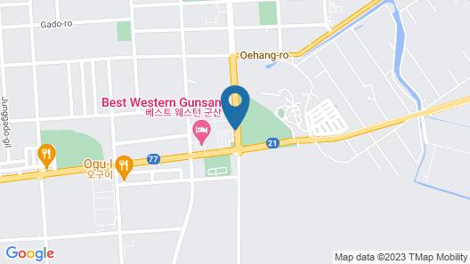 Best Western Gunsan Hotel Map