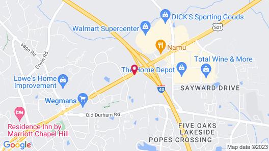 Red Roof Inn Chapel Hill - UNC Map