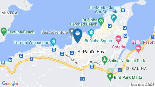 Getawaysmalta - Seashells 1-bedroom Apartment Plus Sleeping Area in Bugibba Map