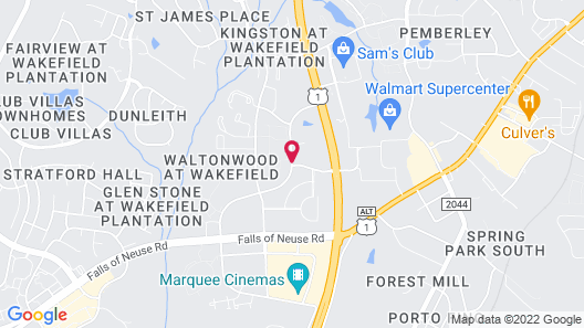 Holiday Inn Express Hotel & Suites Raleigh-Wakefield Map