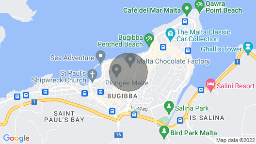 Apartman Seapoint Located in St. Paul's Bay Map