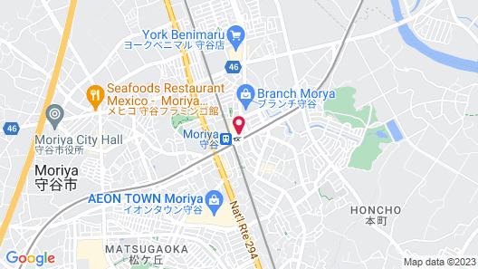 Toyoko Inn Tsukuba Express Moriya Ekimae Map