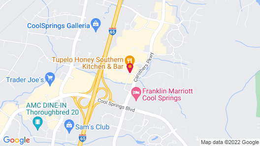 Courtyard by Marriott Franklin Cool Springs Map