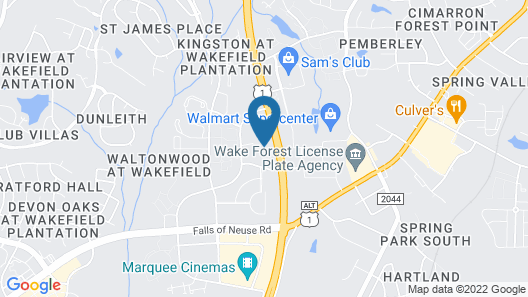 Holiday Inn Express Hotel & Suites Raleigh-Wakefield, an IHG Hotel Map
