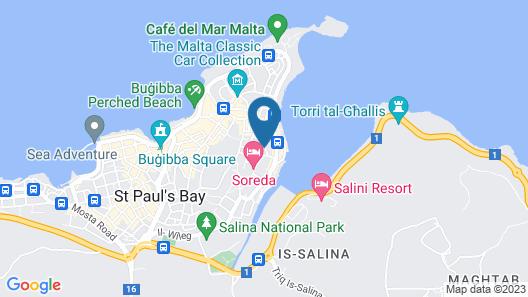 Il Palazzin Hotel Map