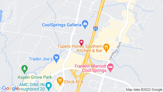Towneplace Suites by Marriott Franklin Cool Springs Map