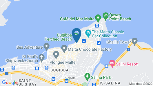 Dolmen Hotel Malta Map