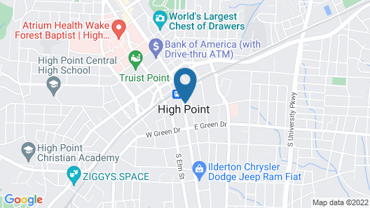 Red Lion Hotel High Point Map