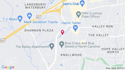 Extended Stay America - Durham - University - Ivy Creek Blvd Map