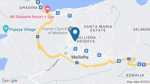 Maritim Antonine Hotel & Spa Malta Map