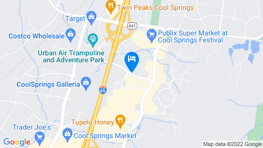 Hyatt Place Nashville/Franklin/Cool Springs Map