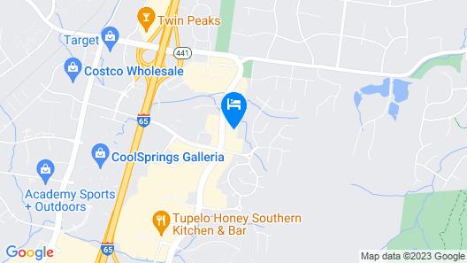 Hilton Garden Inn Nashville/Franklin Cool Springs Map