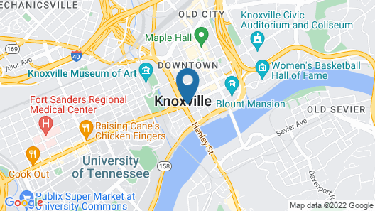 Hampton Inn & Suites Knoxville Downtown Map