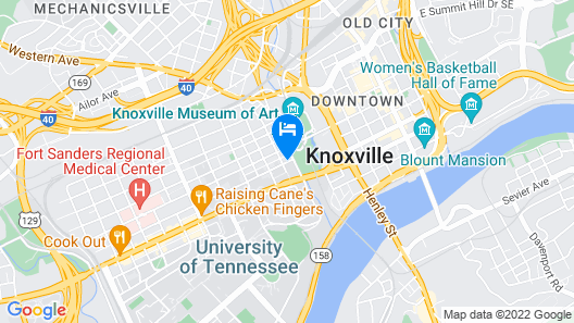 Cumberland House Knoxville, Tapestry Collection by Hilton Map