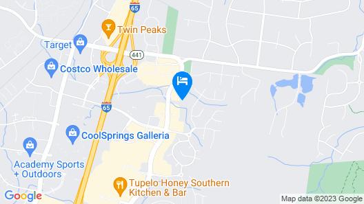 Holiday Inn Franklin - Cool Springs, an IHG Hotel Map