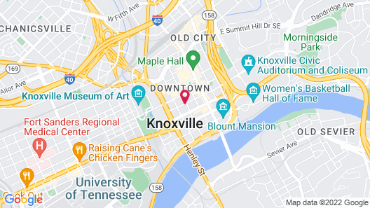 Hilton Knoxville Map