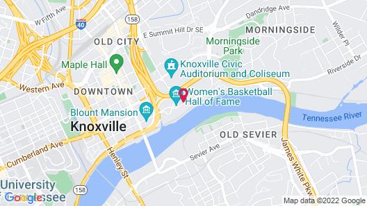 Hotel Knoxville Map