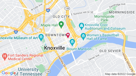 Courtyard by Marriott Knoxville Downtown Map