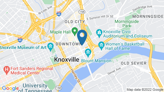 Residence Inn by Marriott Knoxville Downtown Map