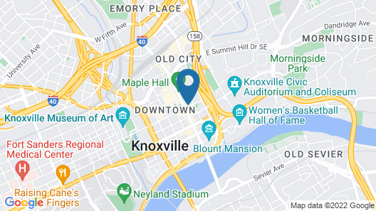 Hyatt Place Knoxville Downtown Map