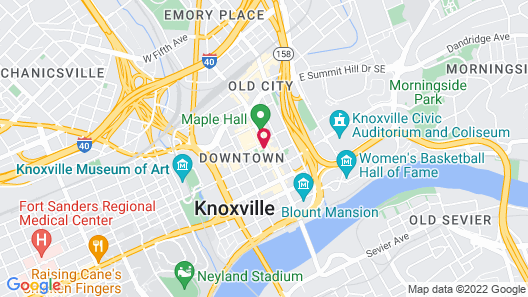 Embassy Suites by Hilton Knoxville Downtown Map