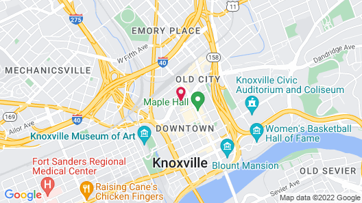 Crowne Plaza Hotel Knoxville Downtown University, an IHG Hotel Map