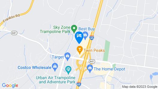 Sleep Inn Nashville - Brentwood - Cool Springs Map
