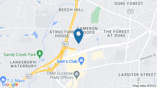 Extended Stay America Suites Durham University Map