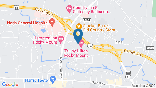 Homewood Suites by Hilton Rocky Mount Map