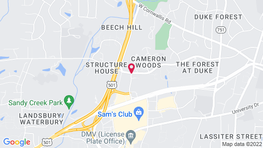 Extended Stay America Durham - University Map