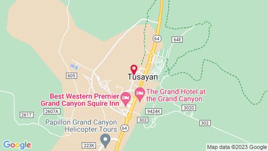 Grand Canyon Plaza Hotel Map