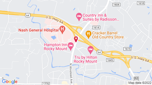 DoubleTree by Hilton Hotel Rocky Mount Map