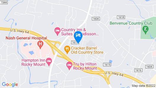 Country Inn & Suites by Radisson, Rocky Mount, NC Map